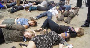 Die 1  Mass 'die-in' protests as Lima climate talks end Die 1