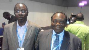 Kayode Fagbemi (Deputy Director, National Emergency Management Agency) (left) with Prof. Adeniyi Osuntogun (former Vice-Chancellor, Obafemi Awolowo University, Ile-Ife & Founder, Resource Integrated Development Foundation)