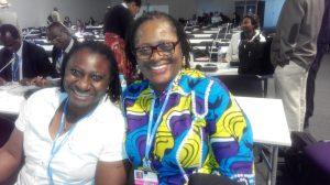 Priscillia Achakpa (Women Environmental Programme) (left) with Ada Ihechukwu-Madubuike (Federal Ministry of Finance)