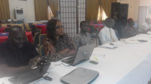 Project Director, African Research Association Managing Development in Nigeria (ARADIN), James Odey (left); South East Regional Coodinator, Nigerian Conservation Foundation (NCF), Ruth Akagu; and other participants