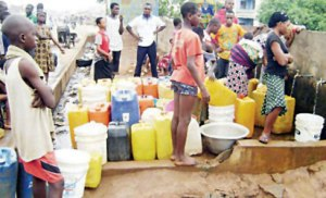 In the face of dwindling supply, demand for water is steadily on the rise. Photo credit: vanguardngr.com