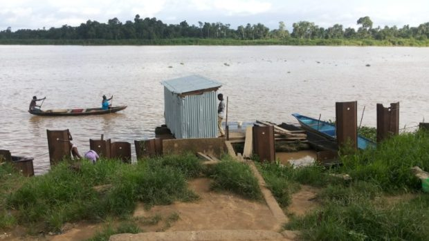 A floating public toilet on the Amassoma River in Bayelsa State. The World Toilet Day 2016 was observed on Saturday, November 19. Photo credit: Jack Jackson