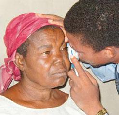 Eye screening. Photo credit: ghanahealthnest.com