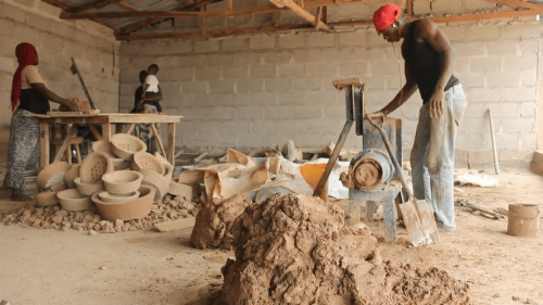 Production going on in Happy's Factory located in Suleja suburb