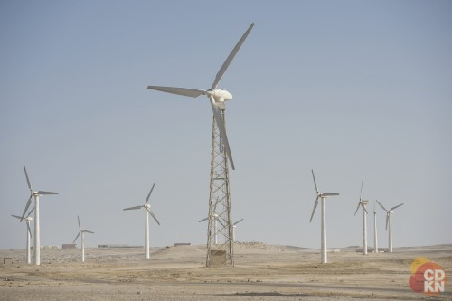 Wind turbines in Egypt. Photo credit: CDKN