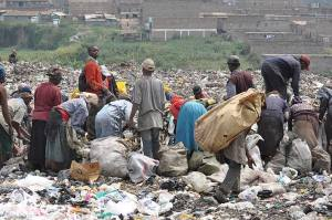 Scavengers at work. Photo credit: environment-today.org  'The real waste managers' scavenging 300x199