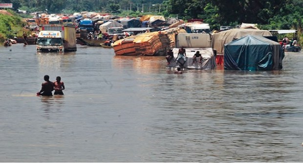 Flooded area in Sokoto. Photo credit: channelstv.com