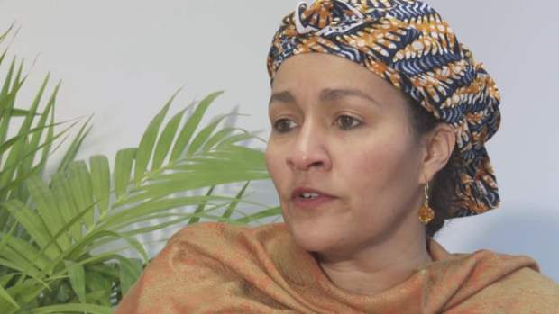 Nigeria's Environment Minister, Mrs Amina Mohammed. Photo credit: i.vimeocdn.com