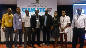 Some of the journalists from Africa who attended this two-day event in India  40,000 delegates expected at COP 21 – French envoy cse india