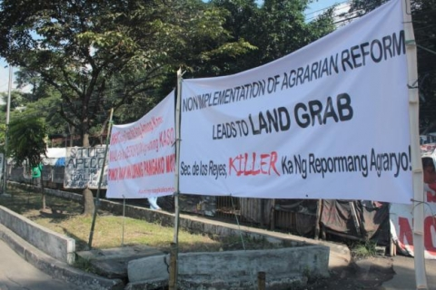 Protest against land grab in the Philippines