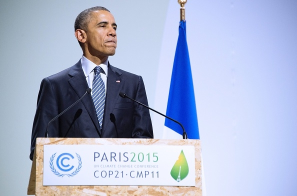 President Barack Obama addressing leaders at COP21 in Paris  Obama: We seek agreement that ensures global economy is low-carbon compliant barack obama