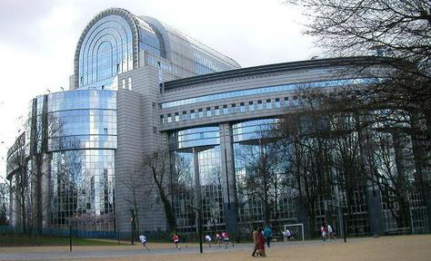 The EU Parliament building in Brussels