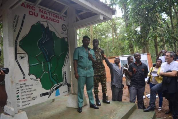 During a trip to the Abidjan Banco National Park  Photos: Ségolène Royal visits Côte d'Ivoire 12764543 1078577848871169 4431646287599917174 o
