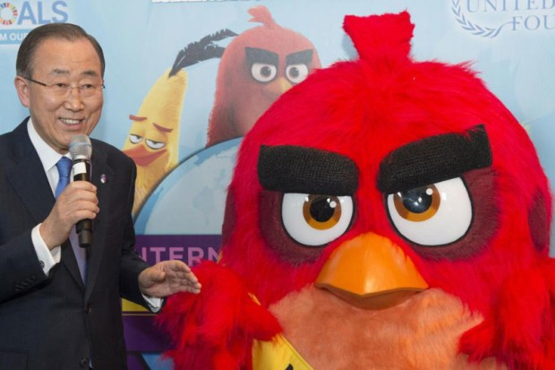 The UN has appointed Red from the 'Angry Birds' as Honorary Ambassador for International Day of Happiness  UN climate campaign to make Angry Birds happy Angry Birds e1458361829766