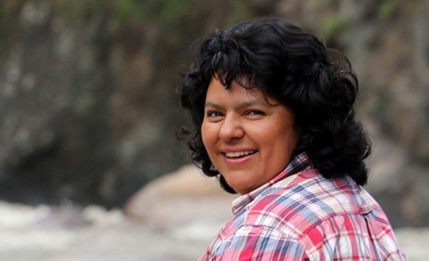 Honduran prize-winning campaigner Berta Caceres was slain by gunmen on March 3, 2016 weeks after opposing a hydroelectric dam project