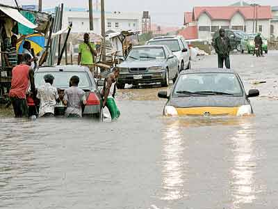 Flooding in Lagos some years ago. Experts have been debating ways to build flood resilience in the city