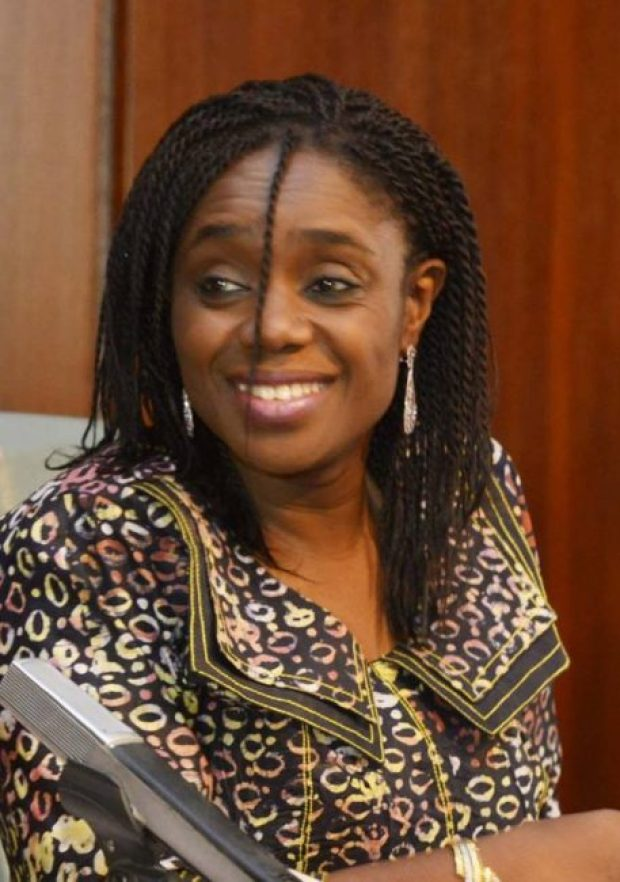 Minister of Finance, Mrs. Kemi Adeosun. She says a sum of N350 billion capital votes will be released immediately into the system
