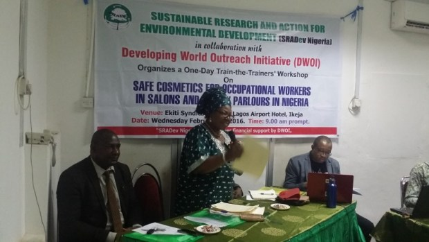 Participants at the Lagos gathering  Study shows unsafe chemicals use in salon products 20160210 105428 e1459882851673
