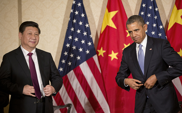 President Barack Obama of the US (right) and President Xi Jinping of China  US, China ratify Paris Agreement Barack Ob 3452428b