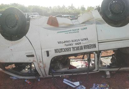 Scene of the crash  Ekiti doctors: FRSC debunks NMA claims, sheds light on crash Ekiti doctors3