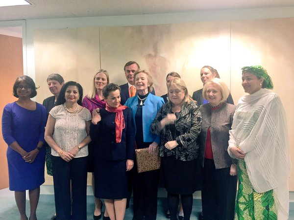 Amina Mohammed (right) formally Inducted as a member of Troika+ of Women Leaders on Gender & Climate Change