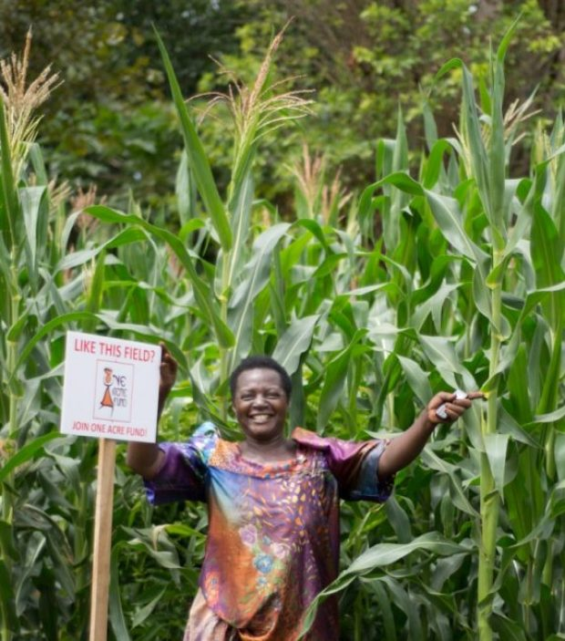 Elumuka Margaret,who operates a maize plantation at Busota village in Uganda, is a beneficiary of the programme. Photo credit: Kelvin Owino
