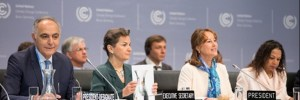 Salaheddine Mezouar, incoming President of the UN Climate Change Conference in Marrakech (COP22) and Morocco's Foreign Affiars Minister (left); Christiana Figueres, Executive Secretary of the United Nations Framework Convention on Climate Change; and Ségolène Royale, French Environment Minister and President of COP 21 (the UN Climate Change Conference in Paris last year), Ségolène Royale, at at the opening of the UN Climate Change Conference in Bonn, Germany on Monday   Bonn: New era as climate negotiations transform to collaboration opening2 300x100