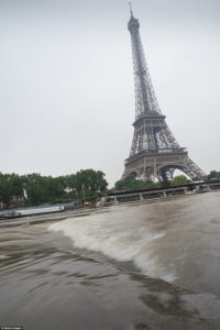 Several areas in Paris were under red alert as the Seine burst its banks Wednesday morning - one near the Eiffel Tower after days of heavy rain  Floods overrun Germany, France, Austria Flood1 200x300