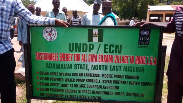 Project signpost  Images: Solar brightens insurgency-hit villages in Adamawa Gaya5 e1466873446105