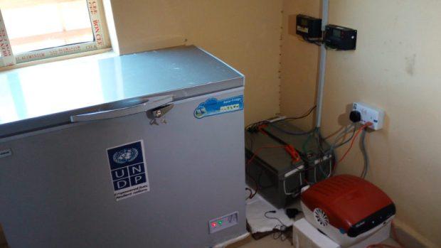Solar freezer at the Gaya Silkami Primary Health Care Centre  Images: Solar brightens insurgency-hit villages in Adamawa Gaya9 e1466872425697