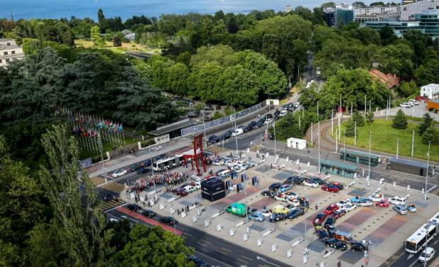 The World Advanced Vehicle Expedition (WAVE), world's largest electric vehicle rally, in respect of which the 2016 held on the Place des Nations in front of the UN European headquarters in Geneva, aims at promoting zero-emission vehicles, considered crucial to limiting warming to 1.5°C  Zero emission vehicles crucial to 1.5°C limit Rally2