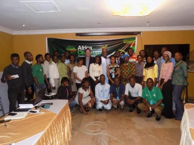 Cross section of participants with the Convener, AlexGreat Akhigbe, at the end of Day 1 of the Africa Clean-up Conference
