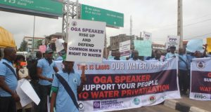 Rally  Water privatisation isn't way out, crusaders urge Lagos lawmakers Rally e1469704392483