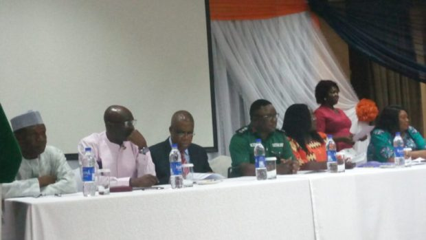 Gov. Ben Ayade with other dignitaries on the high table, in calabar