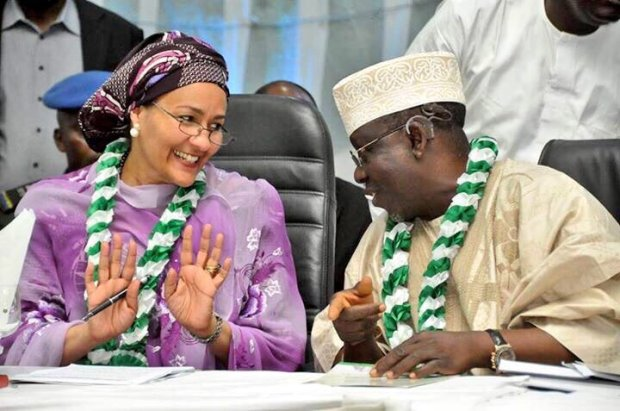 Environment Minister, Amina J. Mohammed (left) with Governor of Nasarawa State, Umaru Tanko Al-makura, during the 10th National Council on Environment (NCE10) last week in Lafia, Nasarawa State