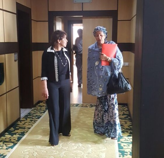 Nigeria's Environment Minister, Amina Mohammed, with her Moroccan counterpart, Hakima El Haite. Both nations have been accused by CSOs of double standards