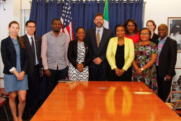 Dr Pershing also met with Climate Change Advocates and Social Entrepreneurs at the US Embassy  Images: US climate envoy, Pershing, in Nigeria Envoy6 e1473308617890