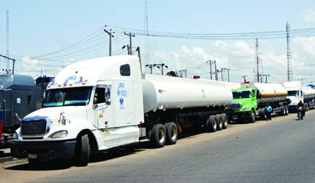 Fuel tankers in Apapa, Lagos