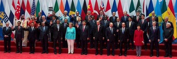 Participants at the 2016 11th summit of the Group of 20 major economies (G20) that took place in Hangzhou, China