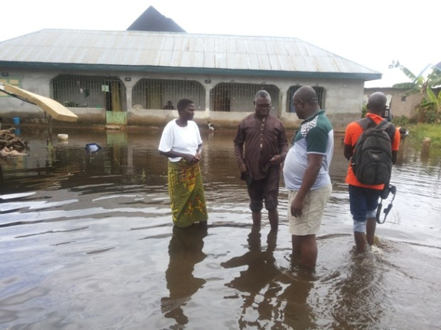 A flooded home in Egbema community, River State