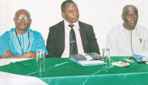 L-R: Dr John Fonweban, FAO Regional Technical Advisor for REDD+ in Nigeria; Prof Shadrach Akindele, Dean, School of Agric. & Agric. Technology, Federal University of Technology, Akure; and Dr Francis Akinsanmi; Department of Forest Resources Management, University of Ilorin