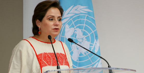 Patricia Espinosa, Executive Secretary of the United Nations Framework Convention on Climate Change (UNFCCC). She stresses that the 2016 SPM identifies immediate actions that can promote emission reductions, and enhance climate resilience
