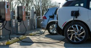 Electric cars  Electric cars, solar panels threaten fossil fuel, says report Electric cars e1486073188894