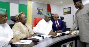 Ambode-Environment-Bill  Governor signs Lagos environmental management bill into law AMBODE LAW