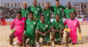 nigeria-beach-soccer-team  Nigeria battle Italy, others at Beach Soccer W/Cup nigeria beach soccer team e1488380990907