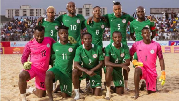 nigeria-beach-soccer-team  Nigeria battle Italy, others at Beach Soccer W/Cup nigeria beach soccer team e1488380990907