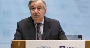 António Guterres  Ocean Conference: Guterres urges nations to eschew short-term gain to avoid catastrophe Gutteres e1496268693302