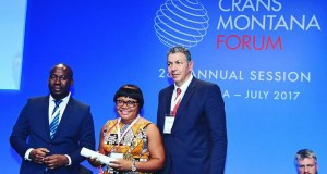 Esther Agbarakwe  Agbarakwe, others bag Crans Montana youth governance award Est