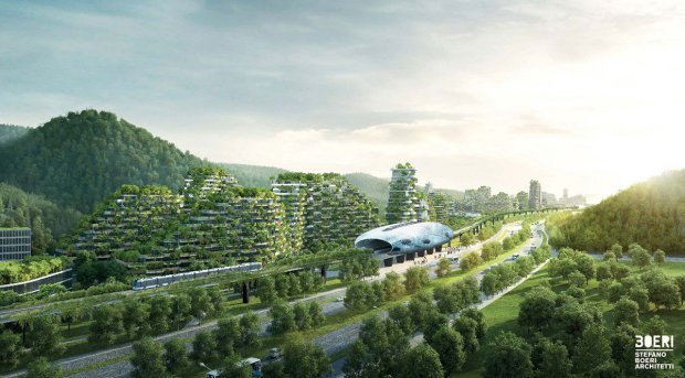 Forest City2  Images: China plans 'forest city' Forest city2