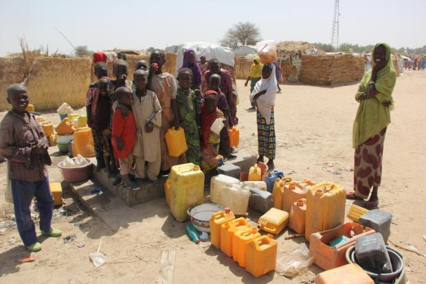 WHO IDP camp
